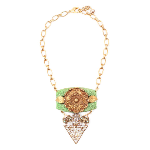 Vintage Dianthus Passage Necklace