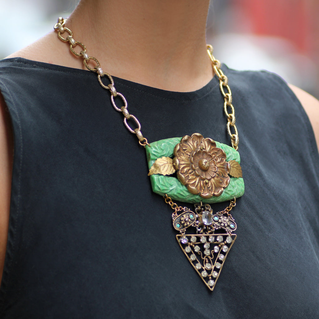 Vintage Dianthus Passage Necklace - Photo