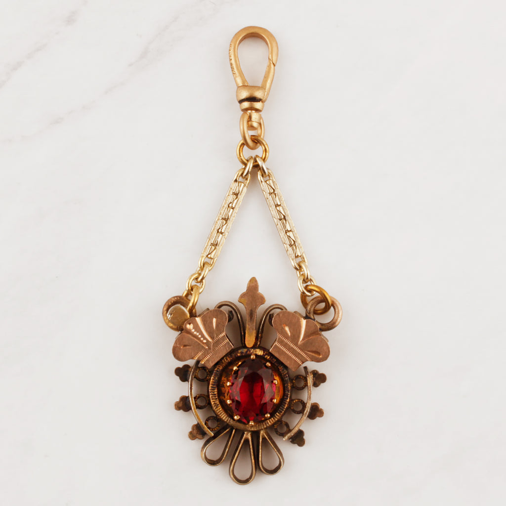 Antique Victorian Gold Filled Trefoil Charm