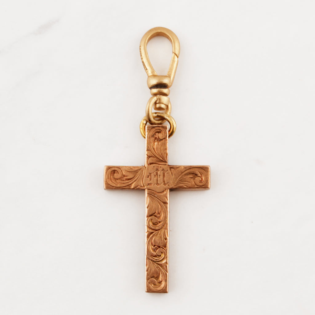 "Antique Gold Filled ""Mabel"" Cross"