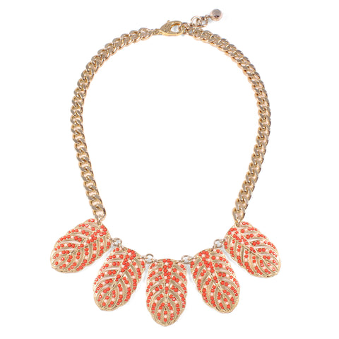 HIBISCUS NECKLACE - CORAL