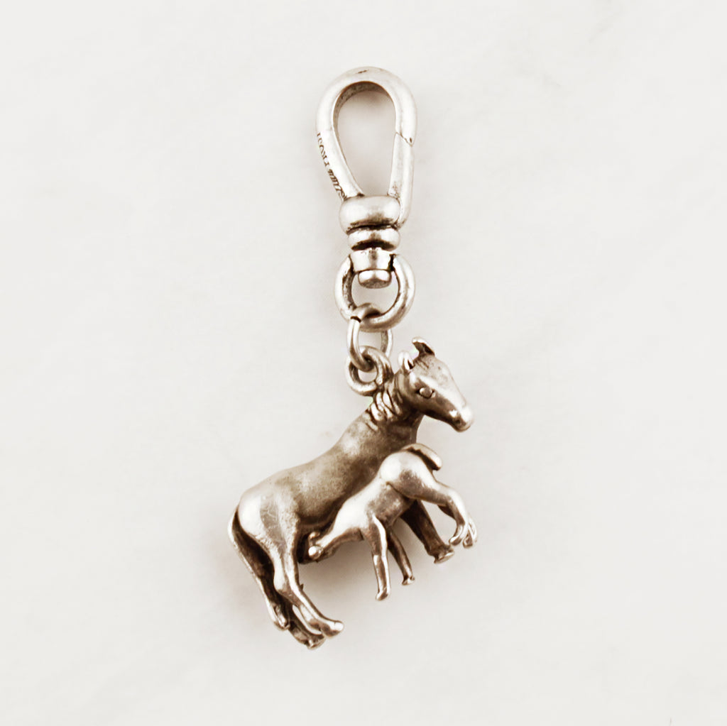 Vintage Sterling Silver Horse & Foal Charm