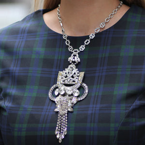 Vintage Crystal Elegance Passage Necklace - Thumbnail