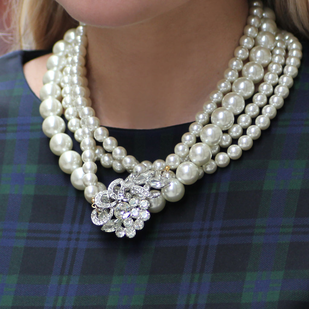 Vintage Pearl Collage Zazari Necklace - Photo
