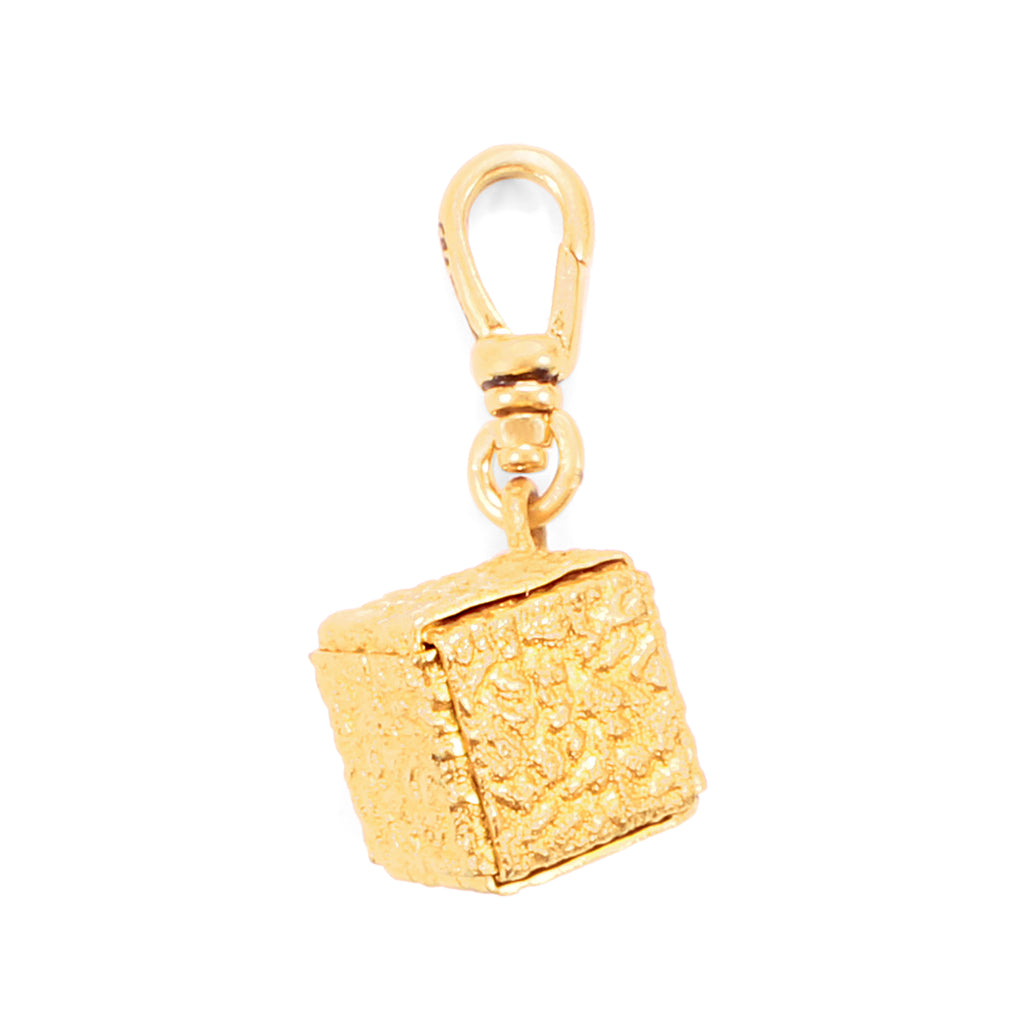 Antique Cube Fob Charm - Photo