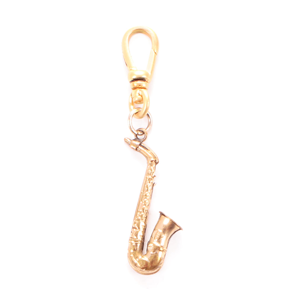 Antique Gold Filled Saxophone Charm - Photo
