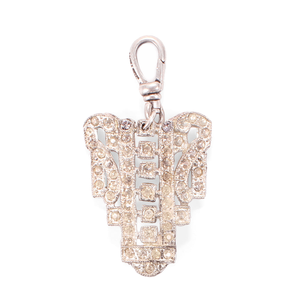Vintage Art Deco Anis Crystal Charm - Photo