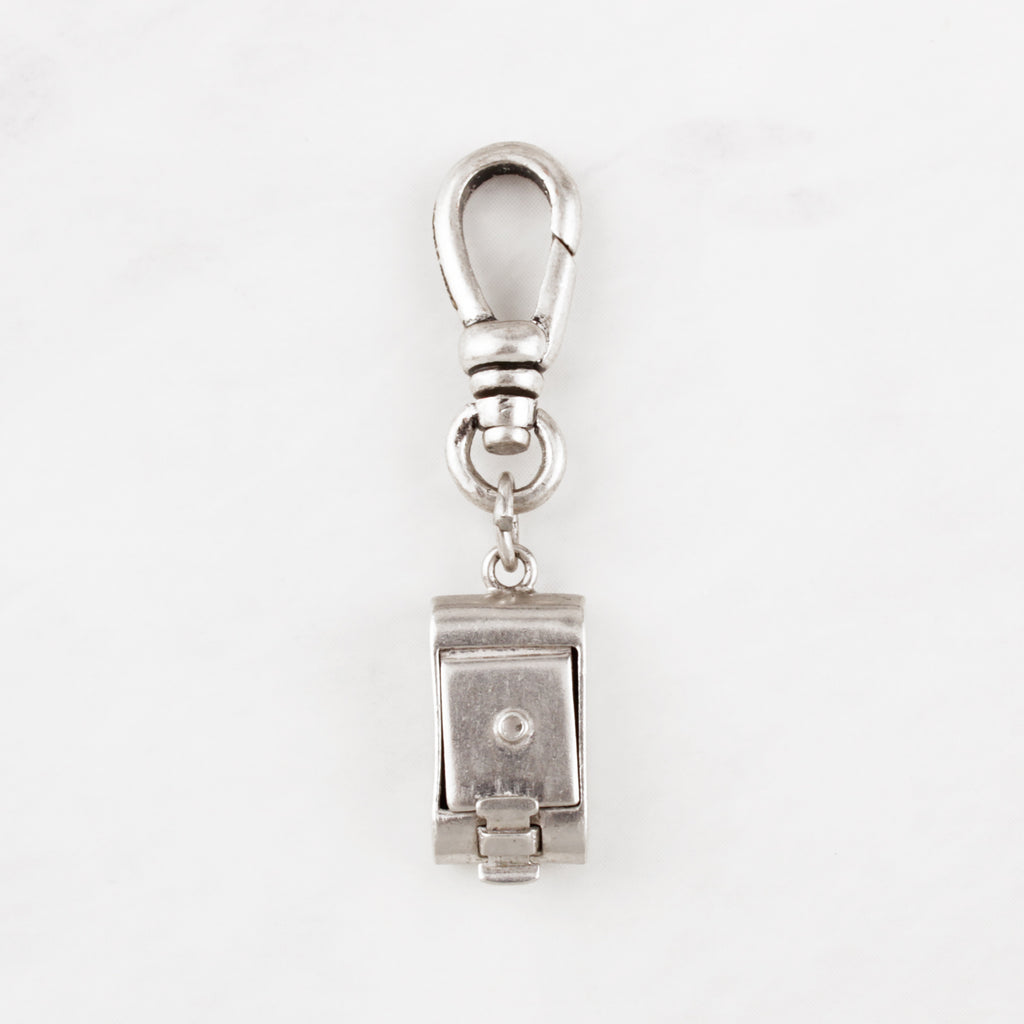 Vintage Sterling Silver Mechanical Brownie Camera Charm