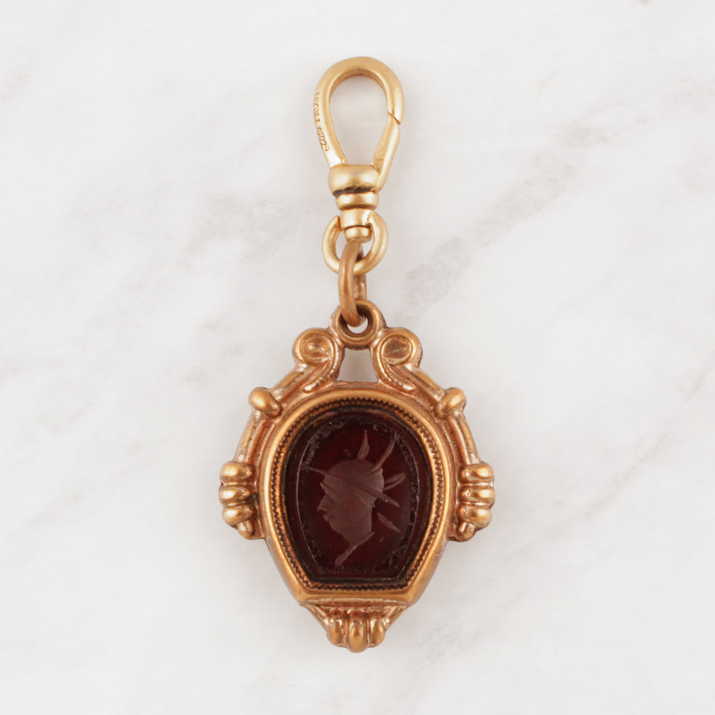 Antique Two Sided Gold Filled Intaglio Charm