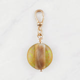 Vintage Mother of Pearl Round Resin Charm