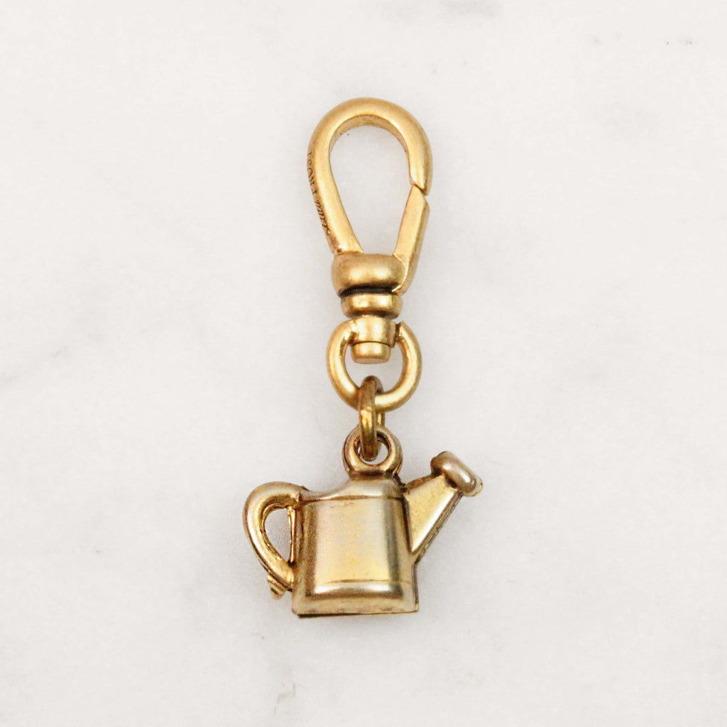 Vintage Gold Filled Watering Can Charm