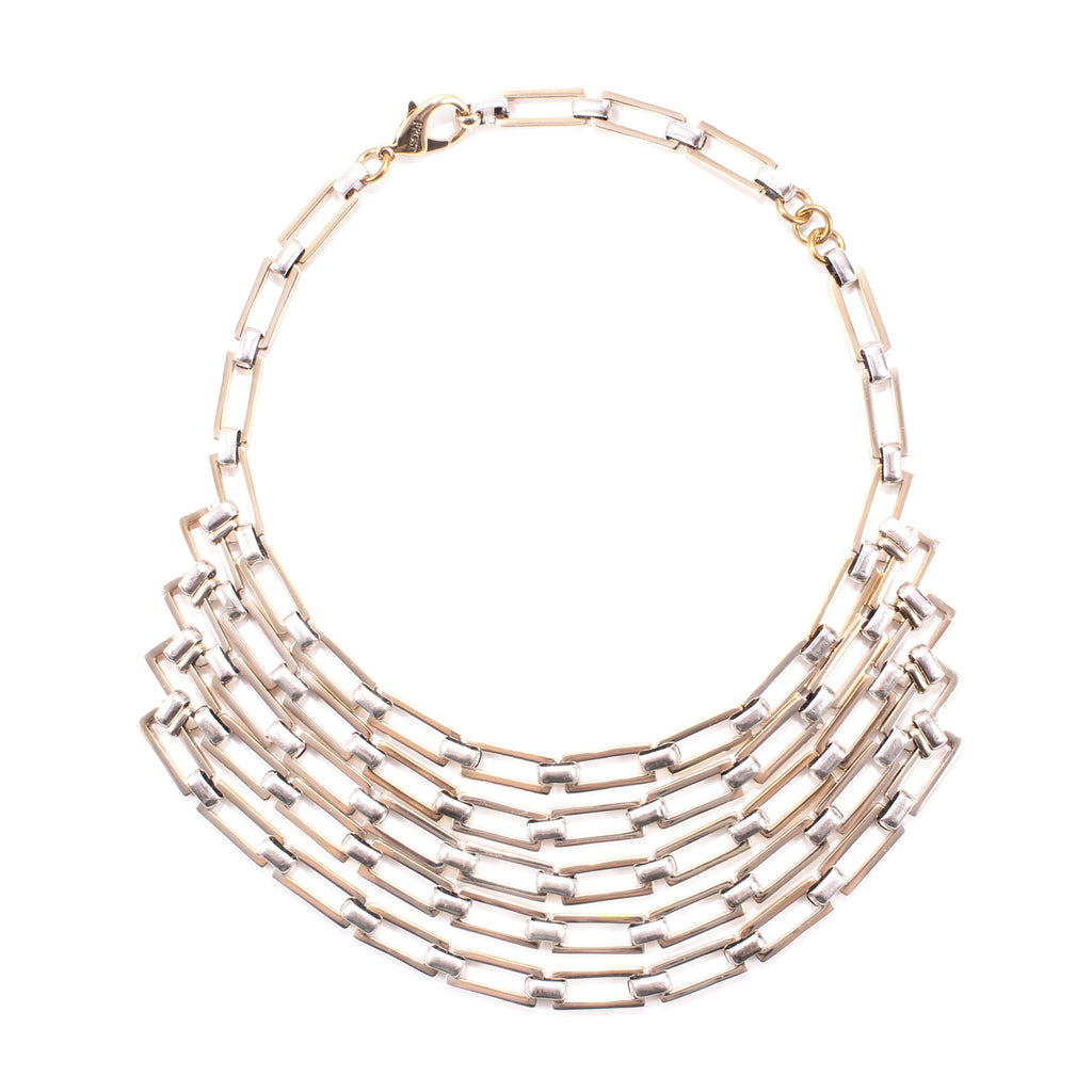 Jane Lattice Bib Necklace
