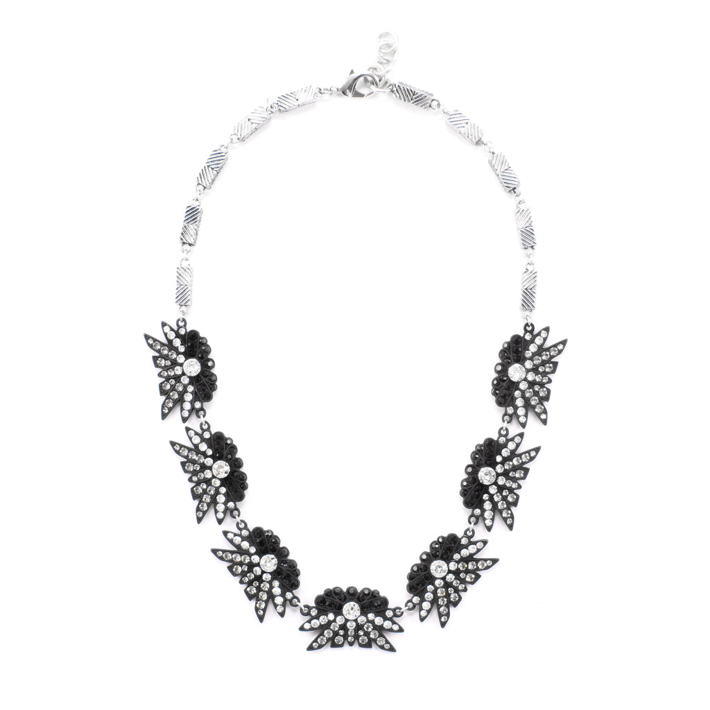 Larkspur Labyrinth Necklace - Black