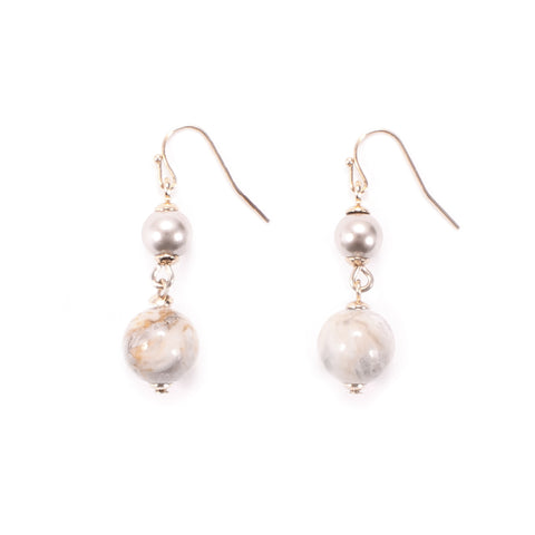 Lustre Agate Drop Earring