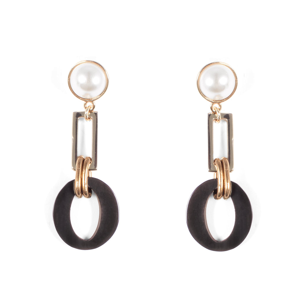 Eleanor Pearl Post Drop Earring