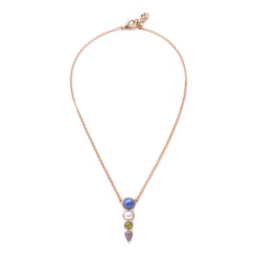 Eartha Multi Stone Pendant Necklace
