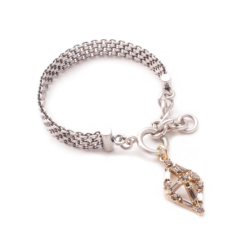 Proxima Wide Chain Bracelet - Smokey