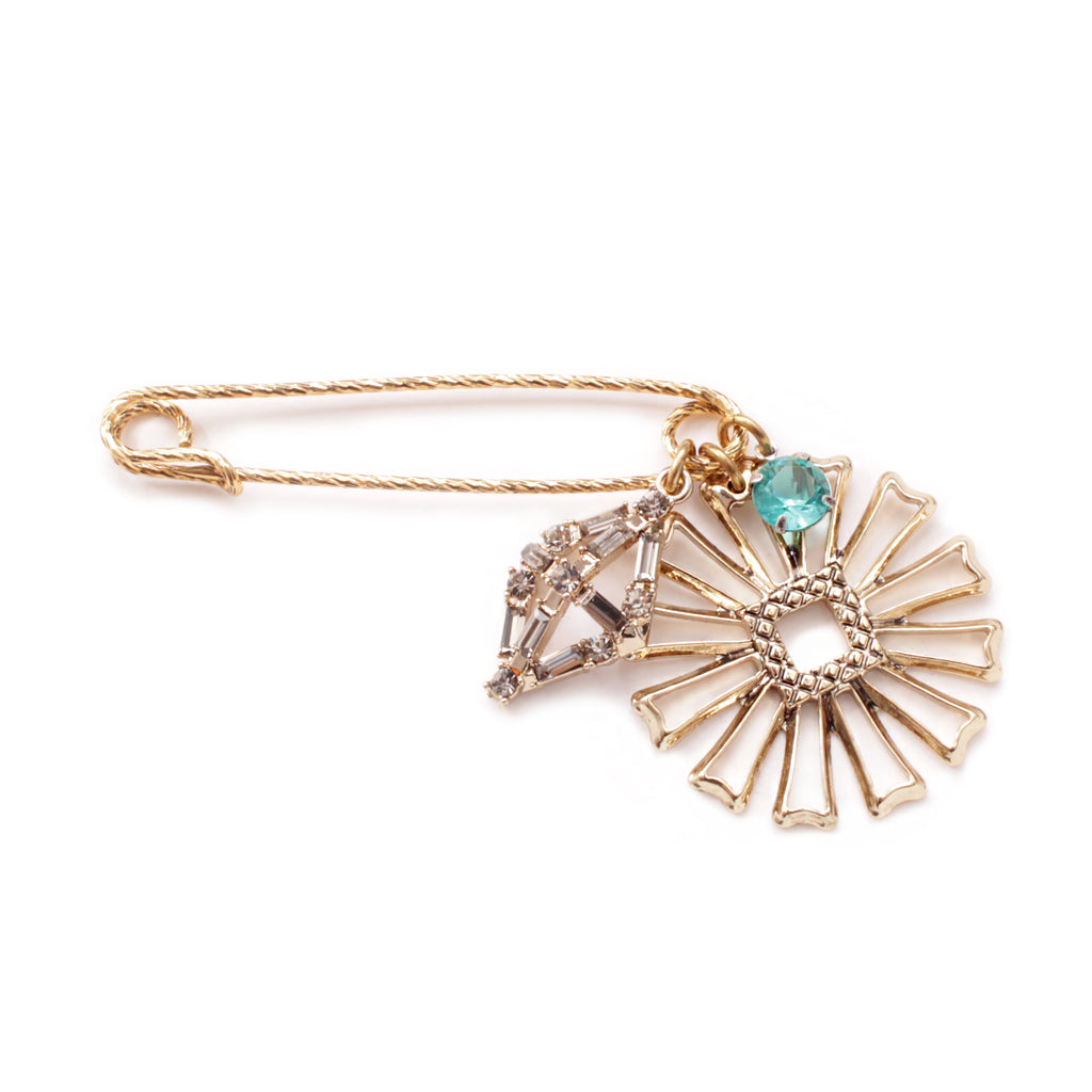 Lulu Favorites Safety Pin Brooch