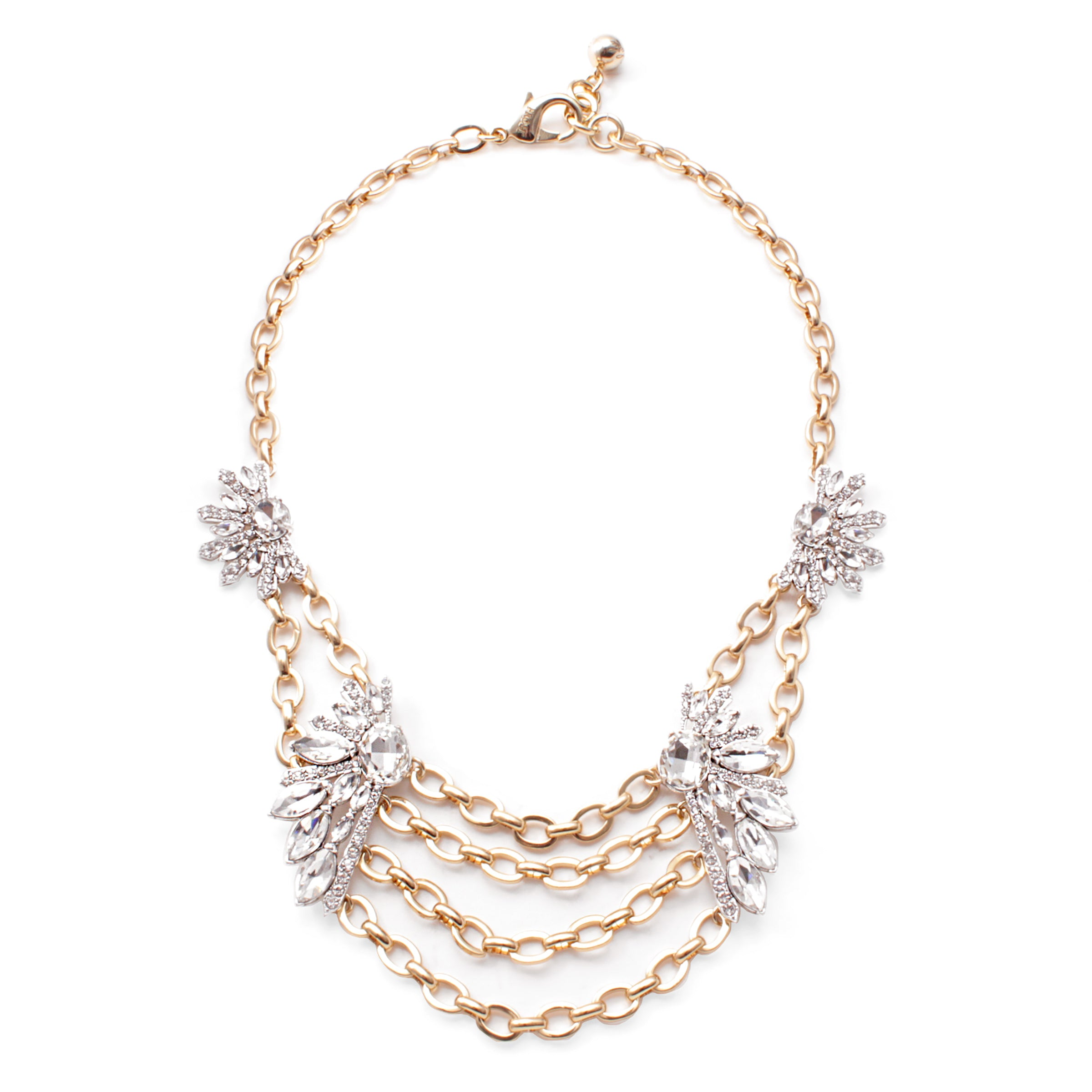 Glacial Statement Necklace - Clear