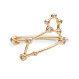 Zodiacs 14k & Diamond Leo + Fire Ring