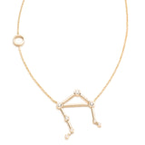 Zodiacs 14K & Diamond Libra + Air Necklace