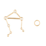 Zodiacs 14K & Diamond Libra + Air Stud Set