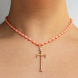 Plaza Natural Coral Necklace Base