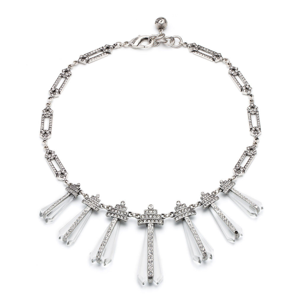 Crystaline Graduated Statement Necklace