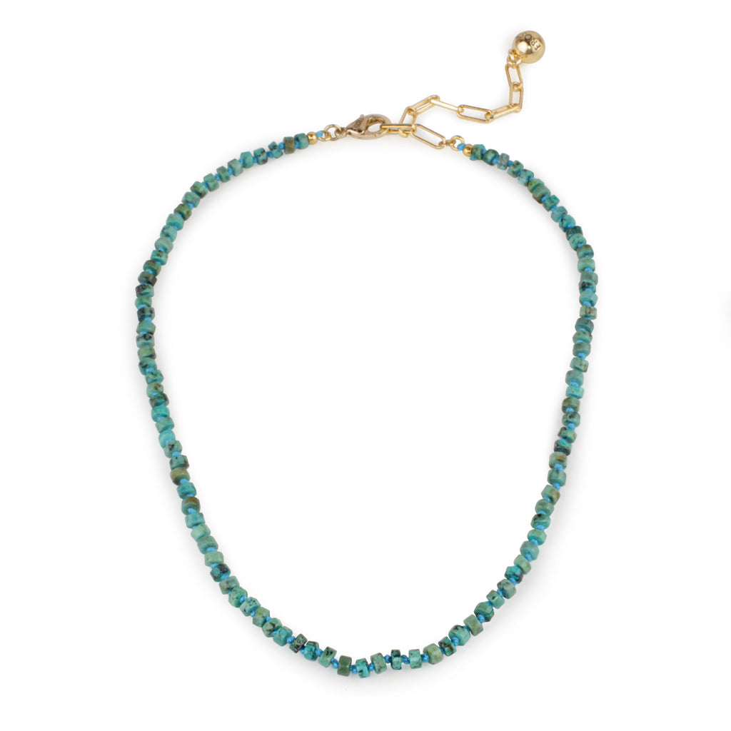 Plaza Natural Heishi Turquoise Necklace Base