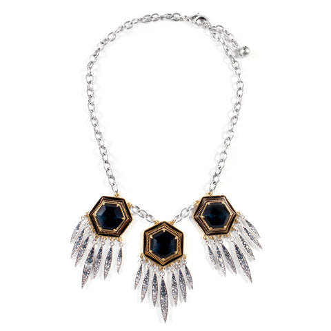 Nicandra Fringed Statement Necklace