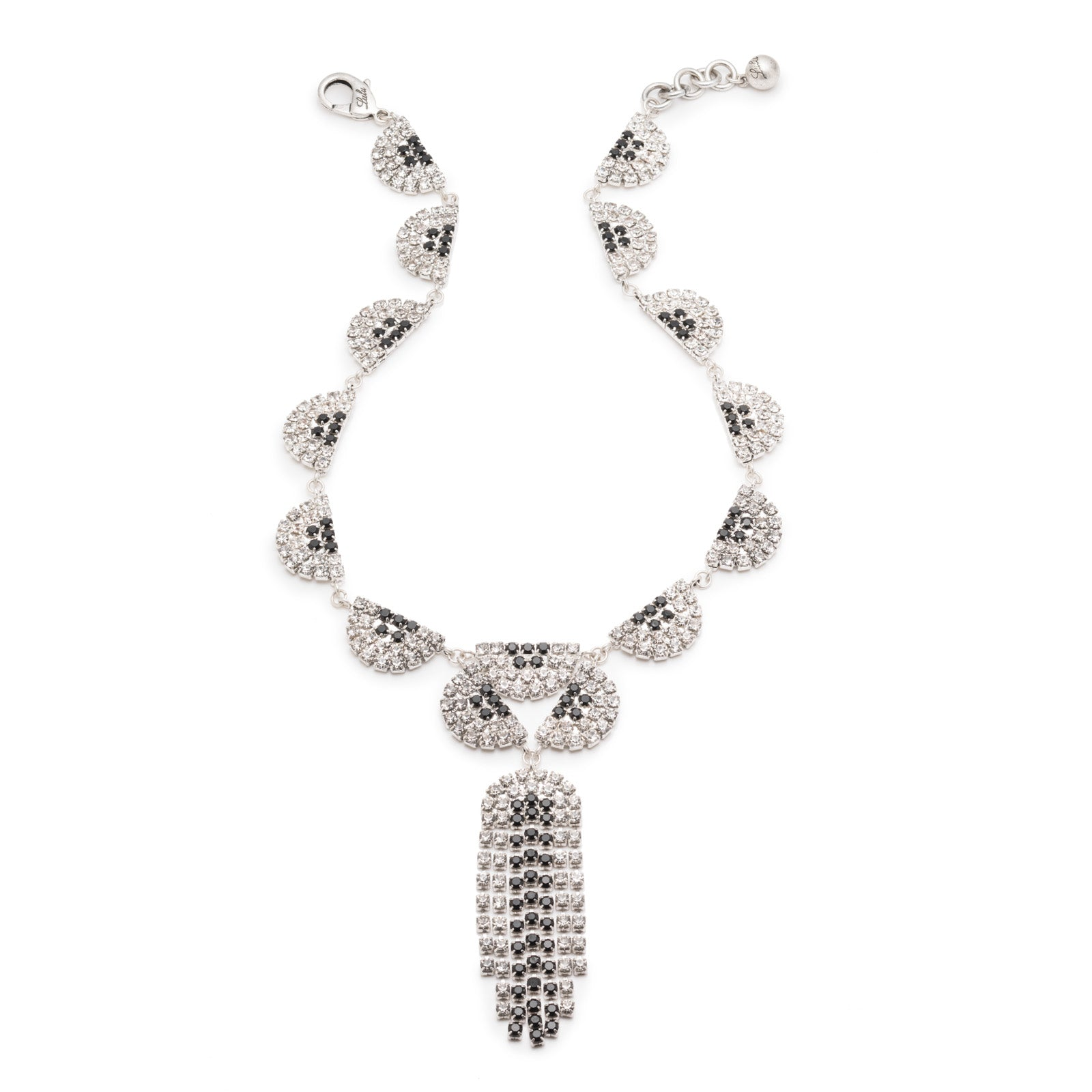 Synth Bib Necklace - Clear