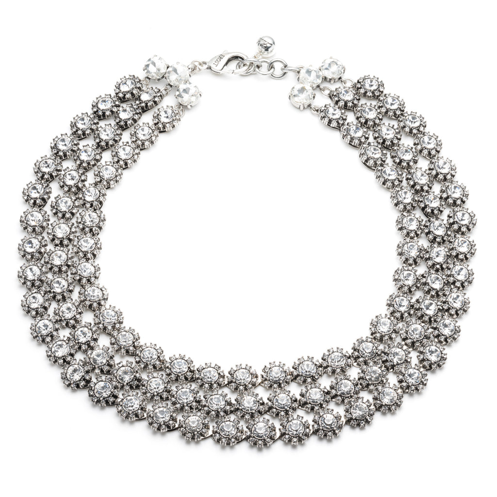 Beam Triple Strand Necklace - Clear - Photo