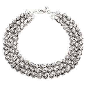 Beam Triple Strand Necklace - Clear - Thumbnail