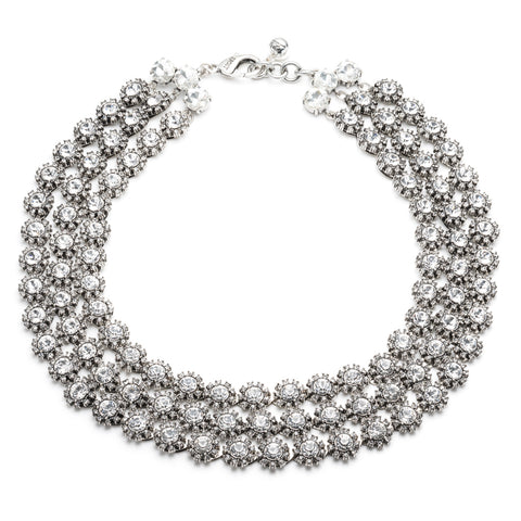 Beam Triple Strand Necklace - Clear