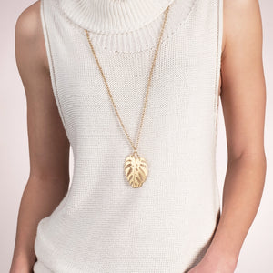 Gold Botanica Long Necklace