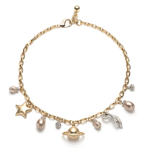 Saturn Charm Necklace
