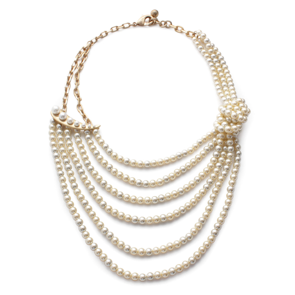Pearl Ocean Statement Necklace