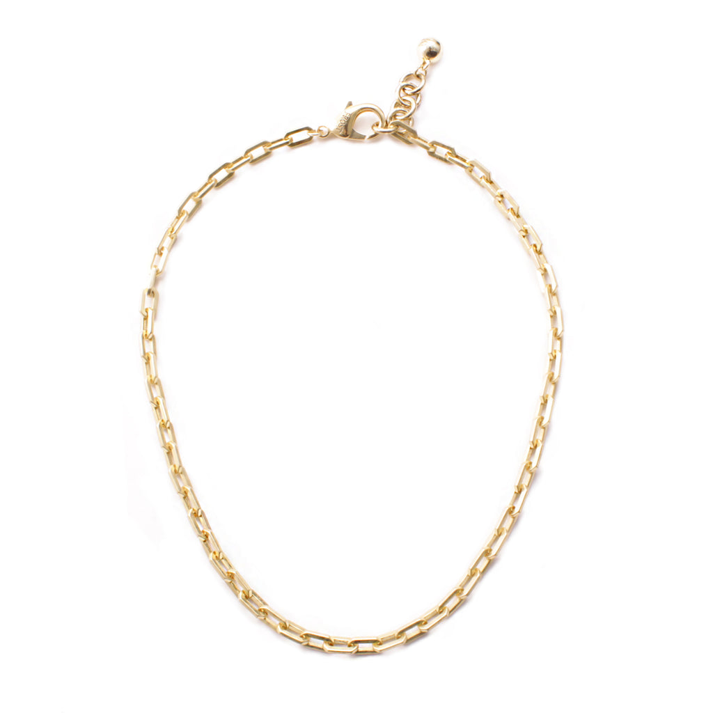 Plaza Edge Link Necklace Base - Gold