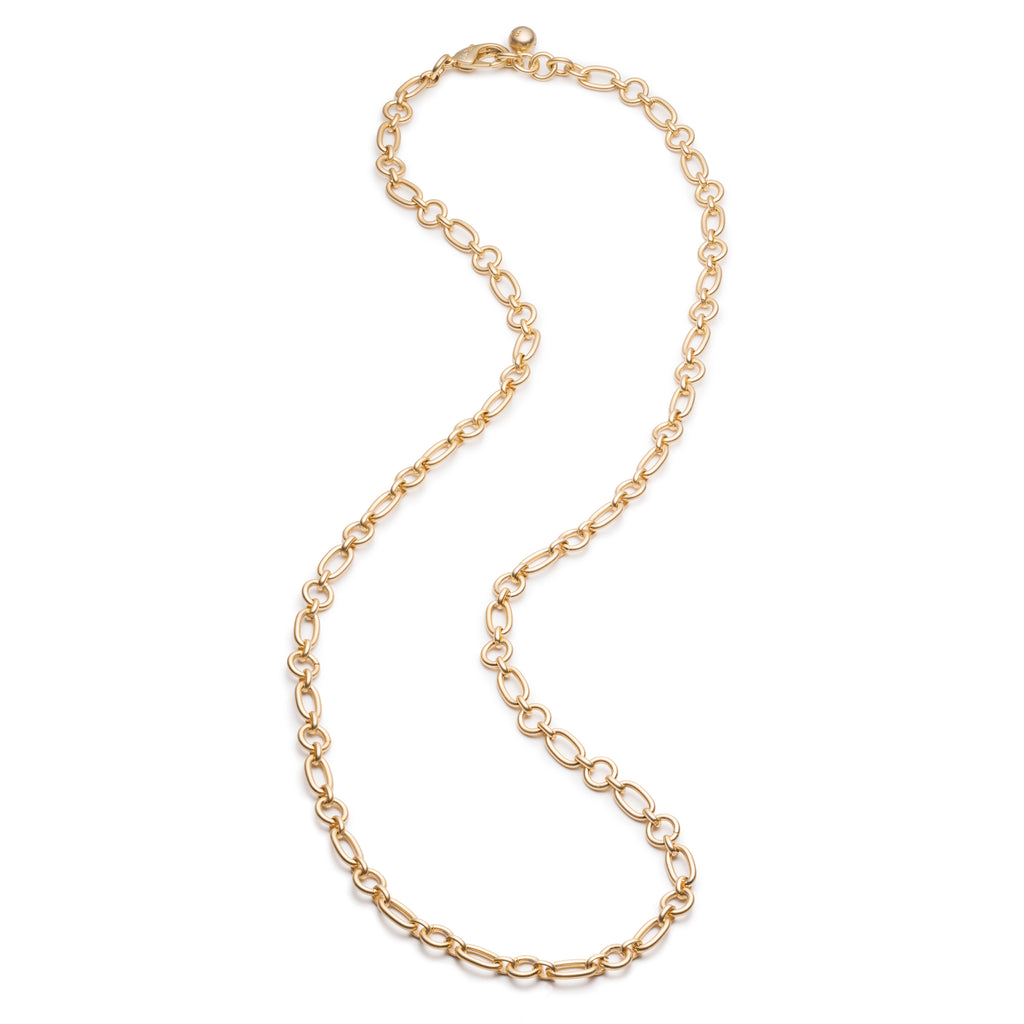 Oval & Round Plaza Chain Necklace Base - Photo
