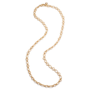 Oval & Round Plaza Chain Necklace Base - Thumbnail