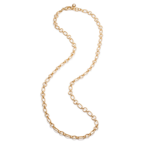 Oval & Round Plaza Chain Necklace Base