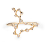 Zodiacs 14k & Diamond Pisces + Water Ring