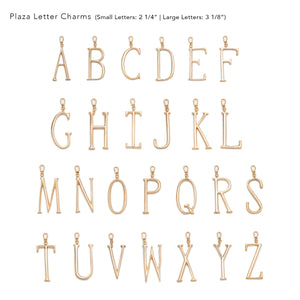 Plaza Letter A Charm - Small - Thumbnail