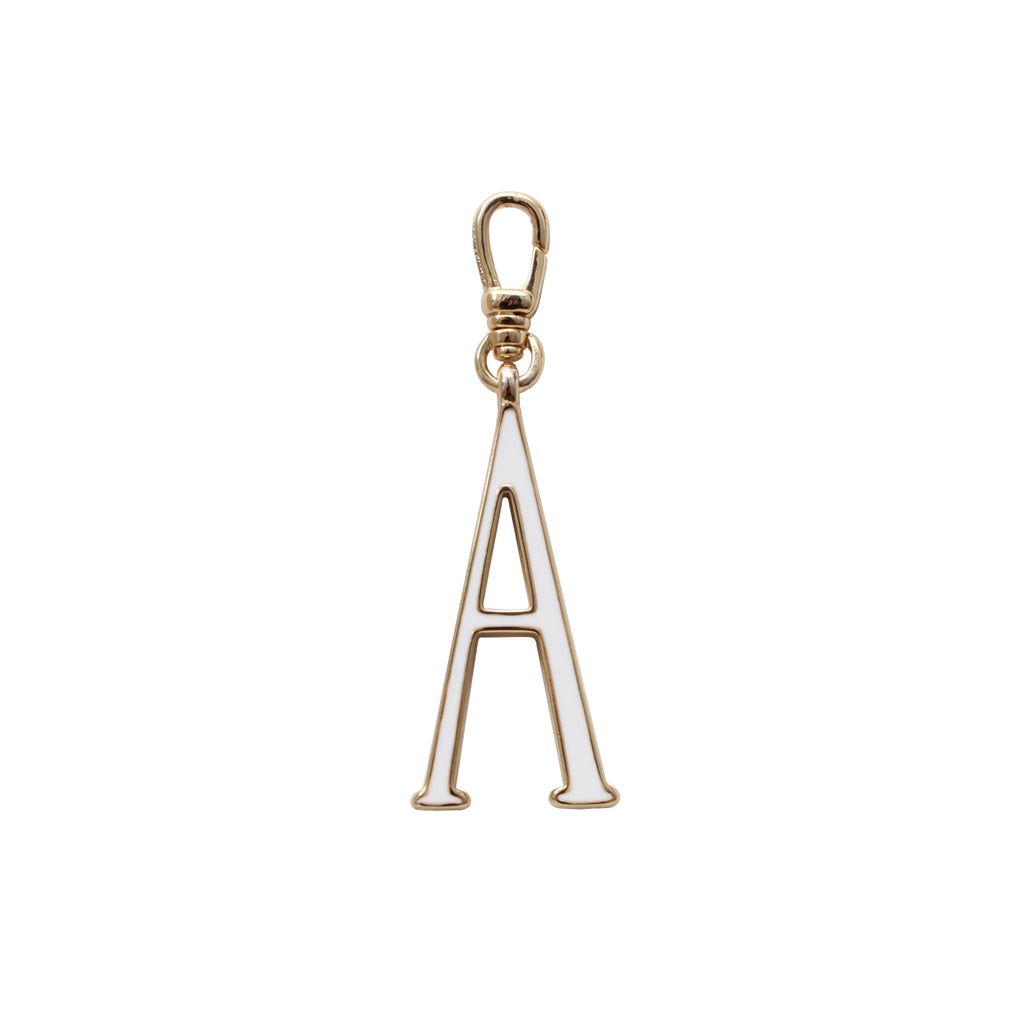 Plaza Letter A Enamel Charm - Small