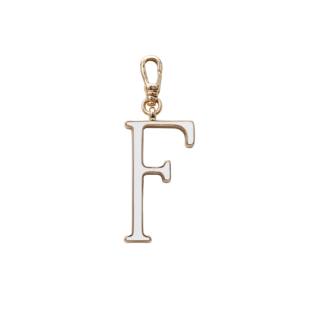 Plaza Letter F Enamel Charm - Small