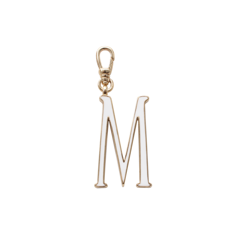Plaza Letter M Enamel Charm - Small