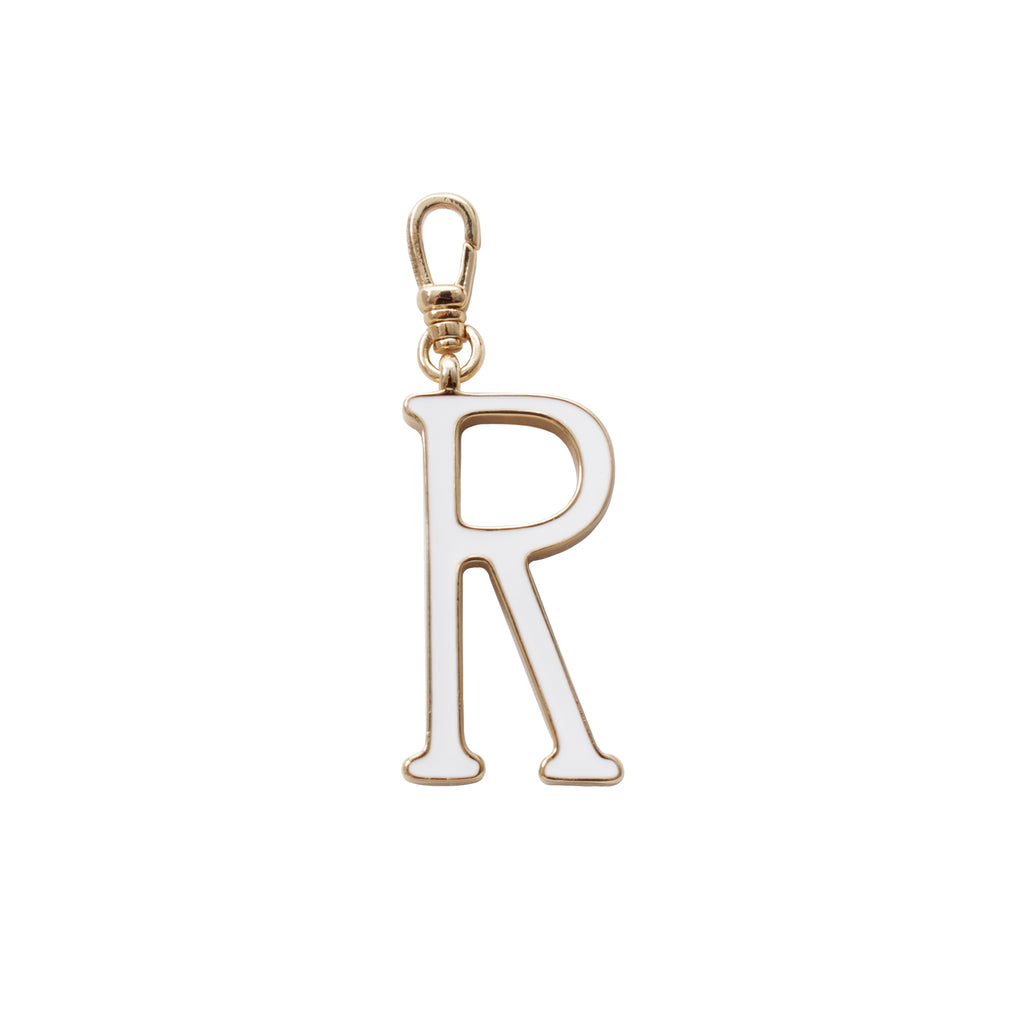 Plaza Letter R Enamel Charm - Small