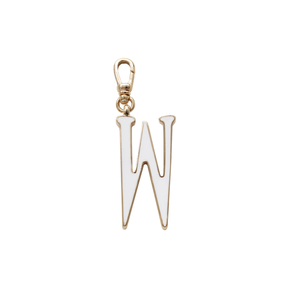 Plaza Letter W Enamel Charm - Small