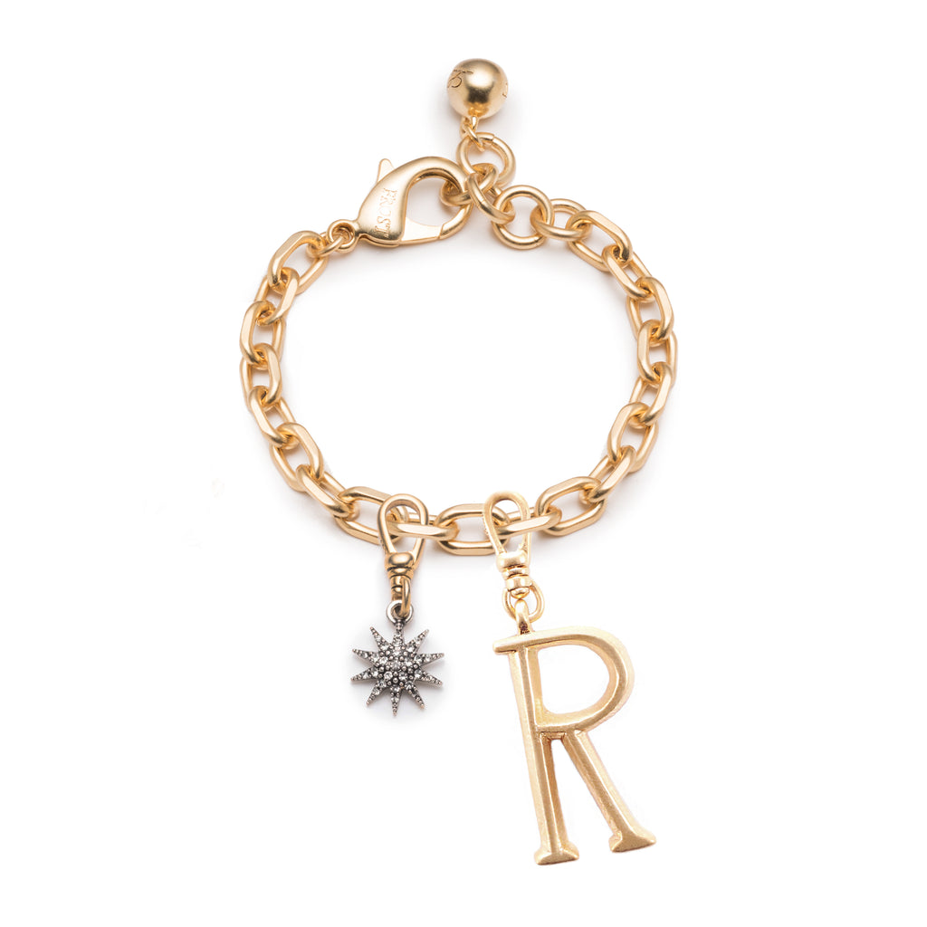 Lulu Starter Pack 4 - Plaza Tuff Link Bracelet, Small Plaza Letter Charm and Electra Star Charm