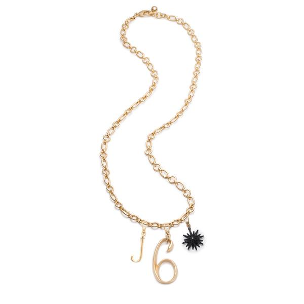 Plaza Letter & Number Necklace with Radiant Star - Photo